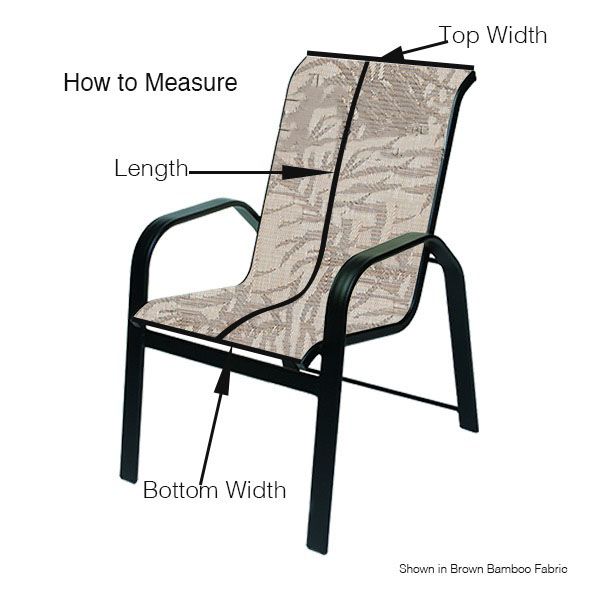 Chair Sling Winston, Sling Chair Material